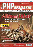 Cover PHPmagazin 3.15: Alice und Faker, March 2015